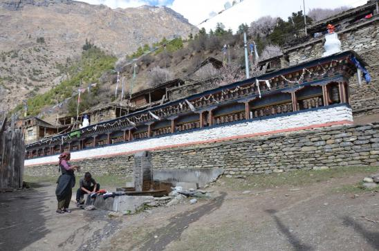 Mur de manis à Upper Pisang
