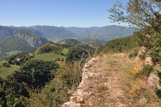 Au-dessus du vallon des Arnaux
