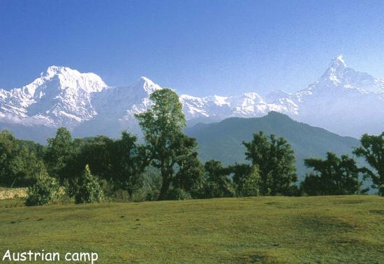 Austrian camp (Annapurna S, Hiunchuli & Machhapuchchhre)