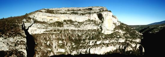 Les gorges de la Nesque : le Rocher du Cire
