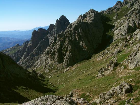 Les aiguilles de Rundinaia depuis le Bocca a la Scaffa
