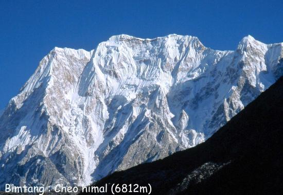 Le Cheo himal vu depuis Bimtang