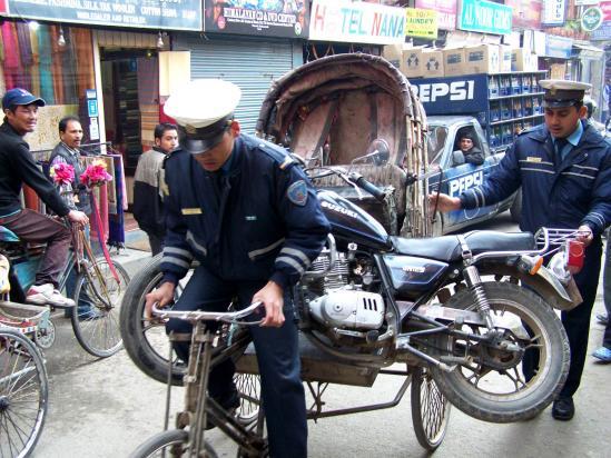 Scène de rue à Kathmandu