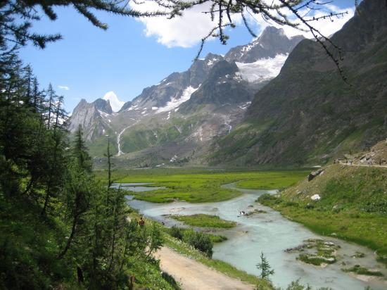 Le lac Combal (Val Veny)
