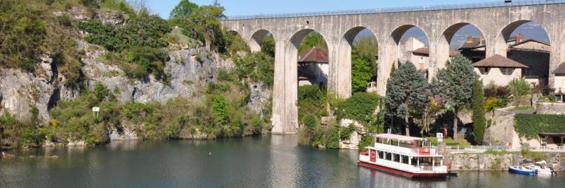 Retour à Saint-Nazaire-en-Royans (le pont-canal)