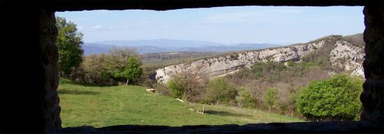 La plaine du Luberon depuis l'auberge de Castelas