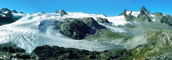 Le glacier du Ruitor depuis le refuge Deffeyes