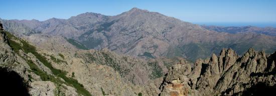 Le Monte Padro vu du Bocca Madia