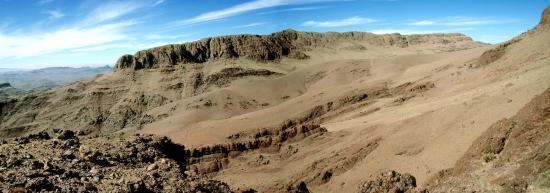 Vue depuis le plateau sommital de l'Aklim