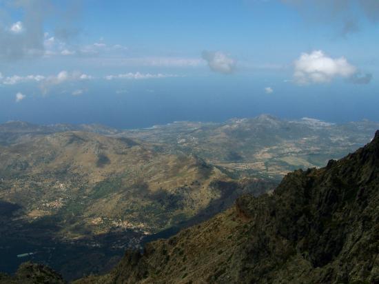 La Balagne vue depuis le sommet du Monte Grosso