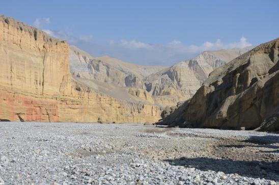 Confluent de la Tangye khola et de la Kali Gandaki