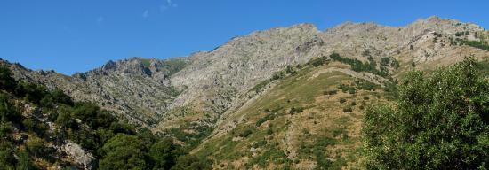 Le Monte Padro depuis le sentier du col de Laggiarello