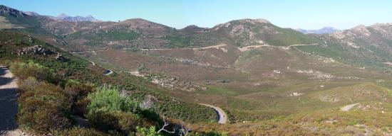 Descente du Monte Negro sur l'Ostriconi