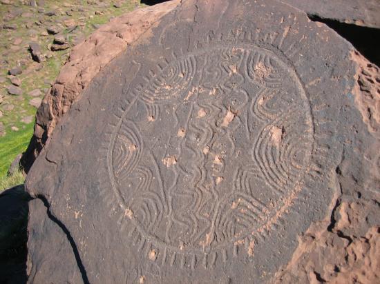 Une gravure rupestre sur le plateau du Yagour
