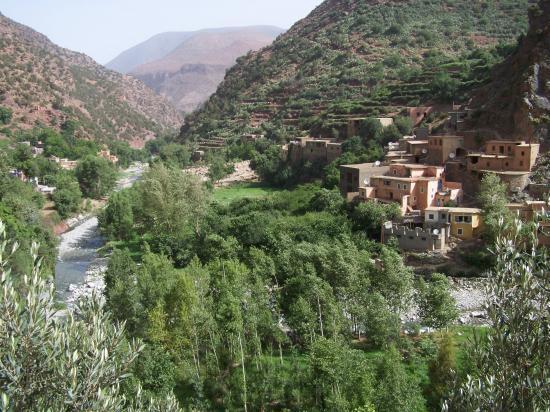 Le village d'Imi n'Taddert (vallée de l'Ourika)