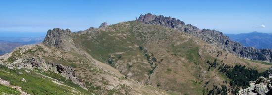 Les aiguilles de Popolasca depuis le bocca Bella Bona