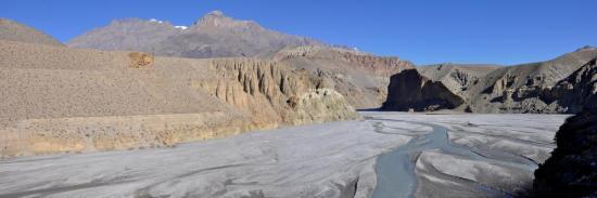 La vallée de la Kali Gandaki entre Kagbeni et Tangbe