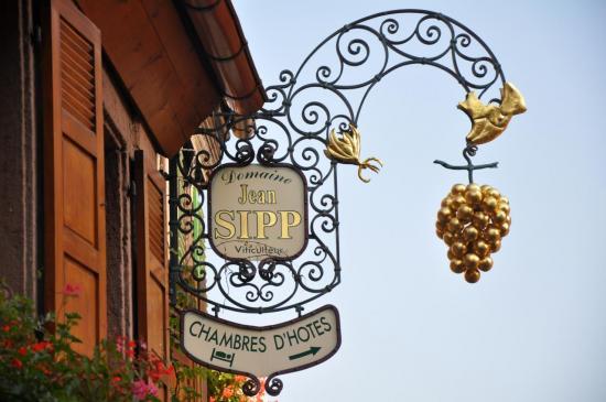 Enseigne de vigneron à Ribeauvillé