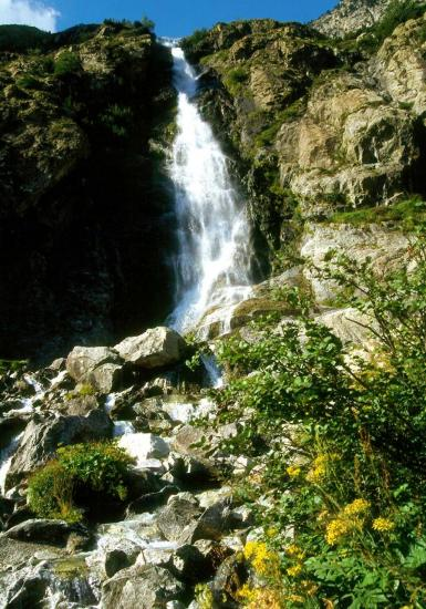 Vallon de la Bonne : cascade de la Pisse