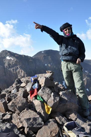 Abdou Rhaim au sommet de l'Akioud