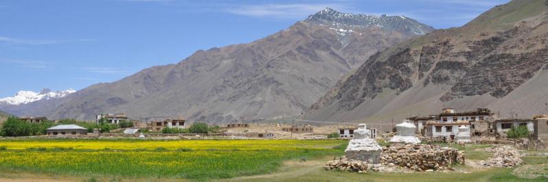 A 20 kms de Padum, le village très agraire d'Ating