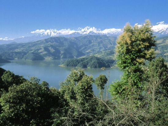 Begnas tal et la chaîne de l'Annapurna
