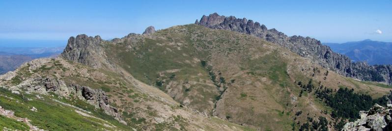 Les aiguilles de Popolasca vues depuis la bocca di Bella Bona