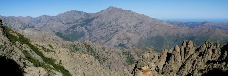 Le Monte Padro vu depuis la Bocca Madia