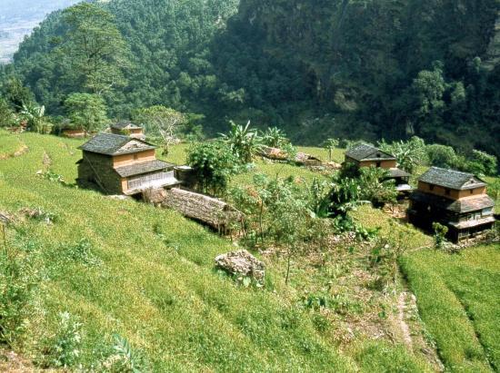 La basse vallée de la Budhi gandaki