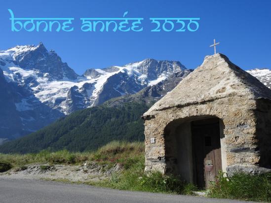 Le massif de la Meije vu depuis l'oratoire du Chazelet