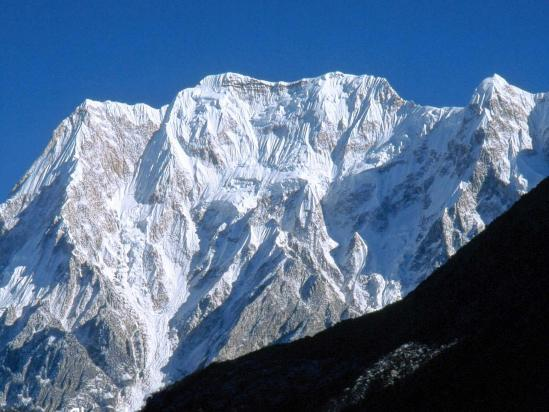 Le Cheo himal vu depuis Bimthang