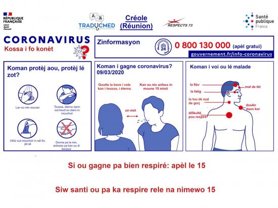 Alerte coronavirus en créole