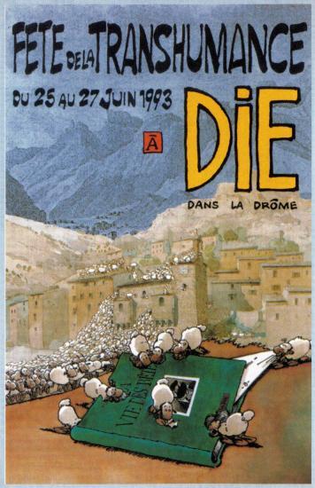 Affiche de la fête de la transhumance de Die en1993