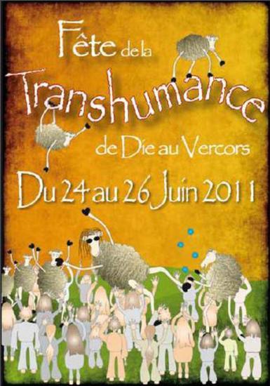 Affiche pour la fête de la transhumance de Die pour 2011