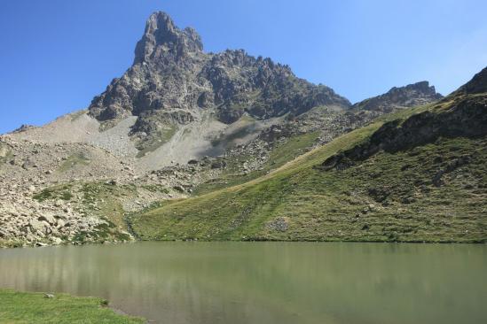 Au lac de Peyreget (Pic du Midi d'Ossau)