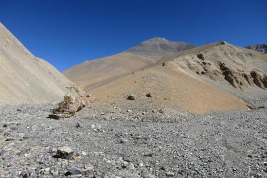 Lors de la descente du canyon, apparition du Gaugiri