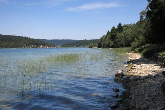 Un peu plus loin le long du lac de Saint-Point