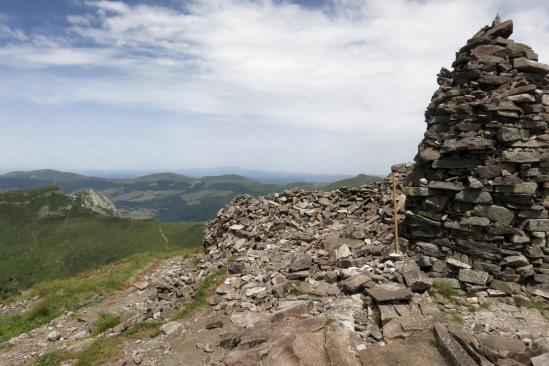 Au sommet du Puy Chavaroche