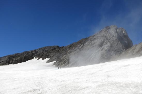 Sur le glacier d'Ossoue au retour de l'ascension du Vignemale