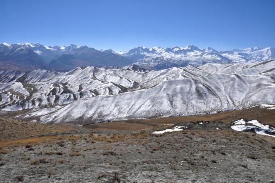 Sur les hauts plateaux entre Tsarang et Ghemi, hors des sentiers battus bien sûr...