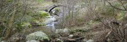 Le pont sur le ruisseau de Vendèze au pied de la ferme des Rancs