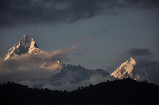 Machhapuchchhre et Annapurna IV vus depuis Pokhara