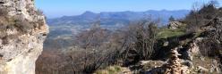 La vallée de la Drôme vue depuis le Pas de l'Echelette (Roche Colombe)