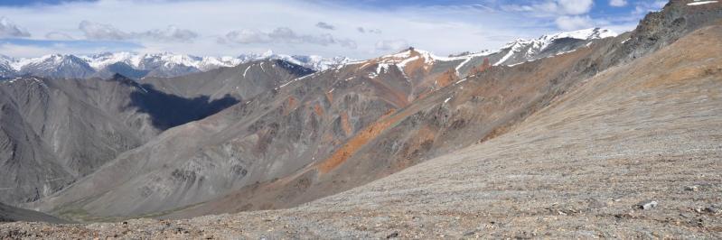 Panorama vers le SW depuis le Phuktal La (5305m)