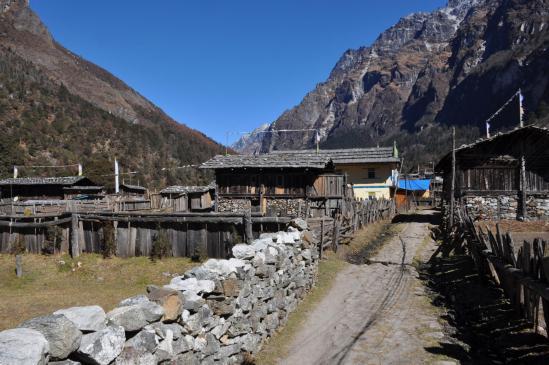 Le village sherpa de Ghunsa