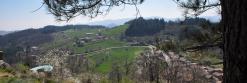 Le village de Chalencon vu depuis l'oppidum