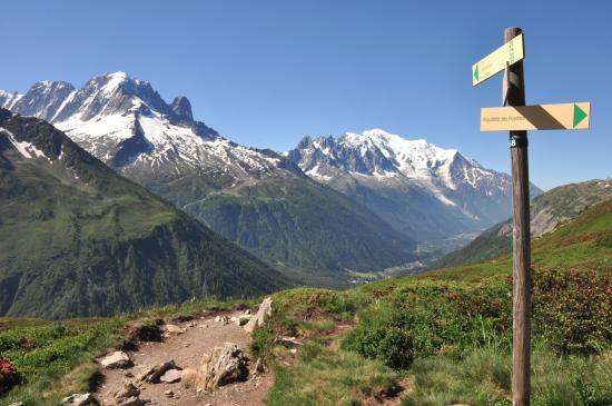 A l'approche du sommet de l'Aiguillette des Posettes