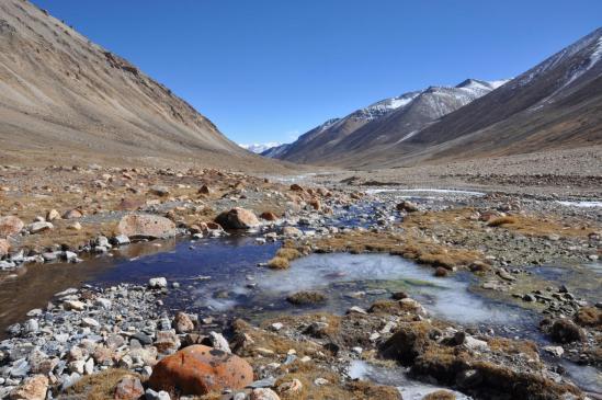 Dans la haute vallée de la Ghyun khola