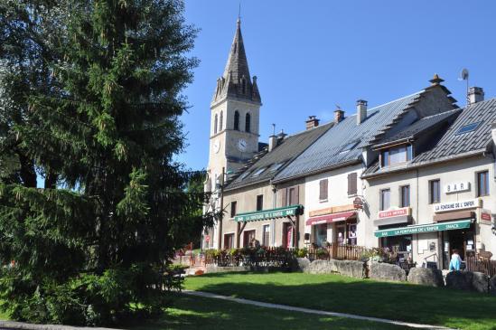 Le centre du village de Méaudre