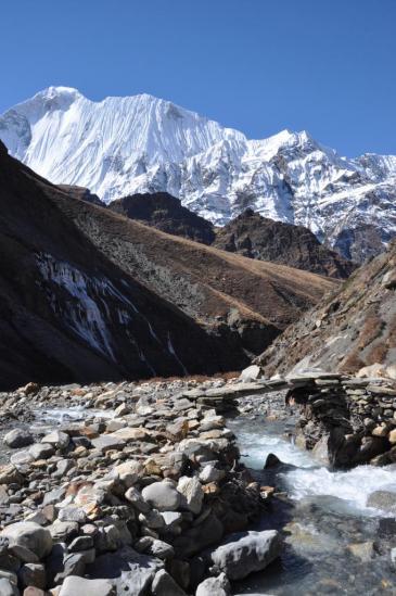 A l'entrée de la haute vallée de la Mu khola